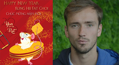 Happy Chinese New Year from Daniil Medvedev